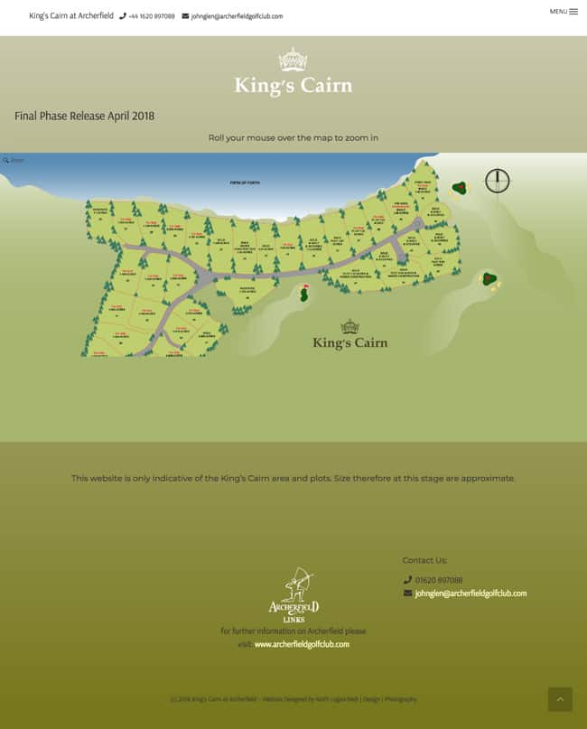 Wordpress Website Design In East Lothian Kings Cairn At Archerfield