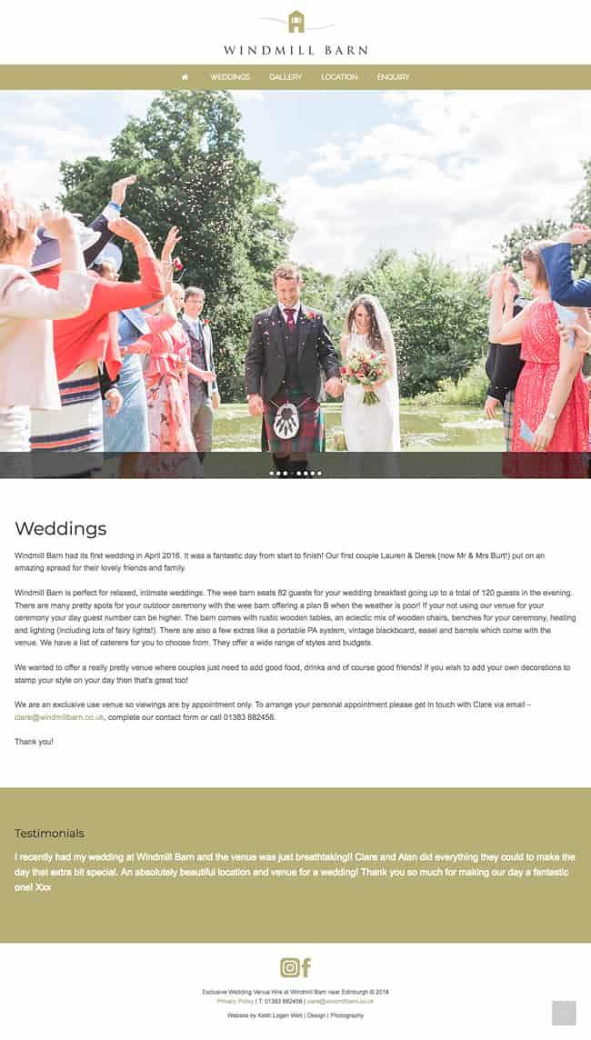 Wordpress Website Design In East Lothian Windmill Barn