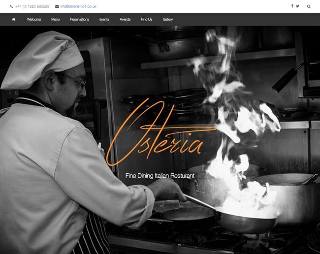 Wordpress Website Design In East Lothian Osteria