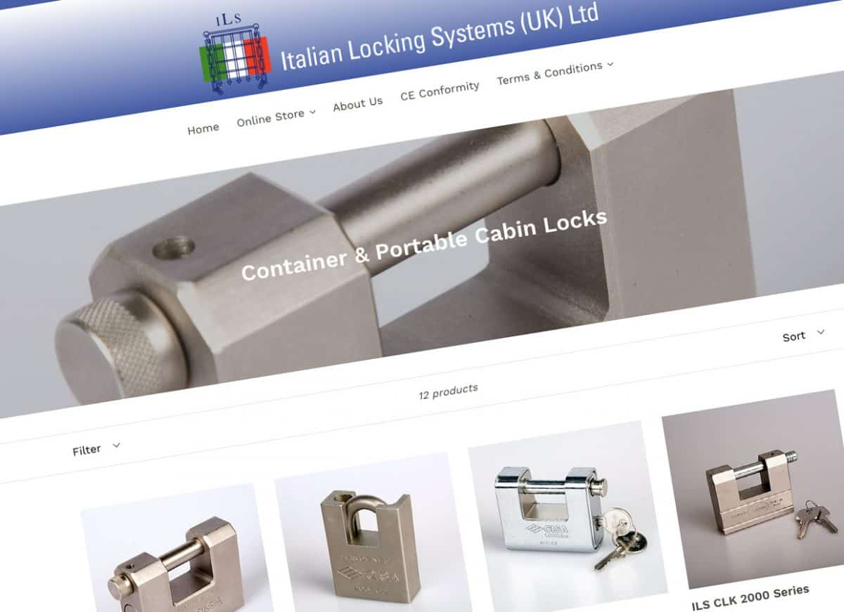 E-Commerce Website Design East Lothian Edinburgh Scotland Italian Locking Systems